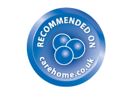 Recommended on care home.co.uk